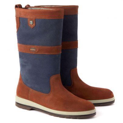 Dubarry Ultima Zeillaarzen Navy Brown Bootschoenenspecialist
