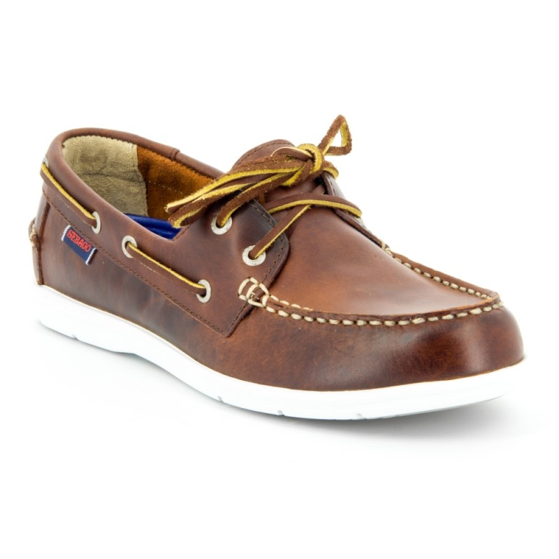 Sebago Bootschoenen Heren Litesides Two Eye Brown Oiled 1
