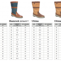 Dubarry maattabel zeillaarzen